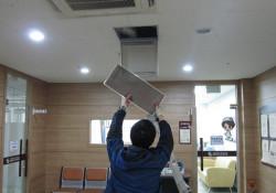 [시설관리] 복지관 전층 공기순환장치 필터교체